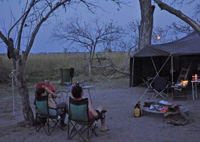 Botswana - Okavango - camp sun set
