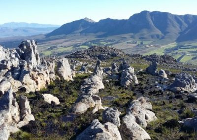 Overberg Walk sculpture corner Slackpacking